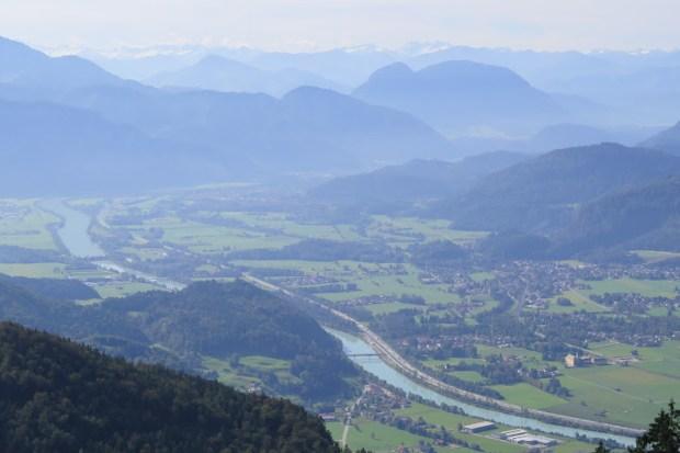 Blick auf Oberaudorf und das Inntal