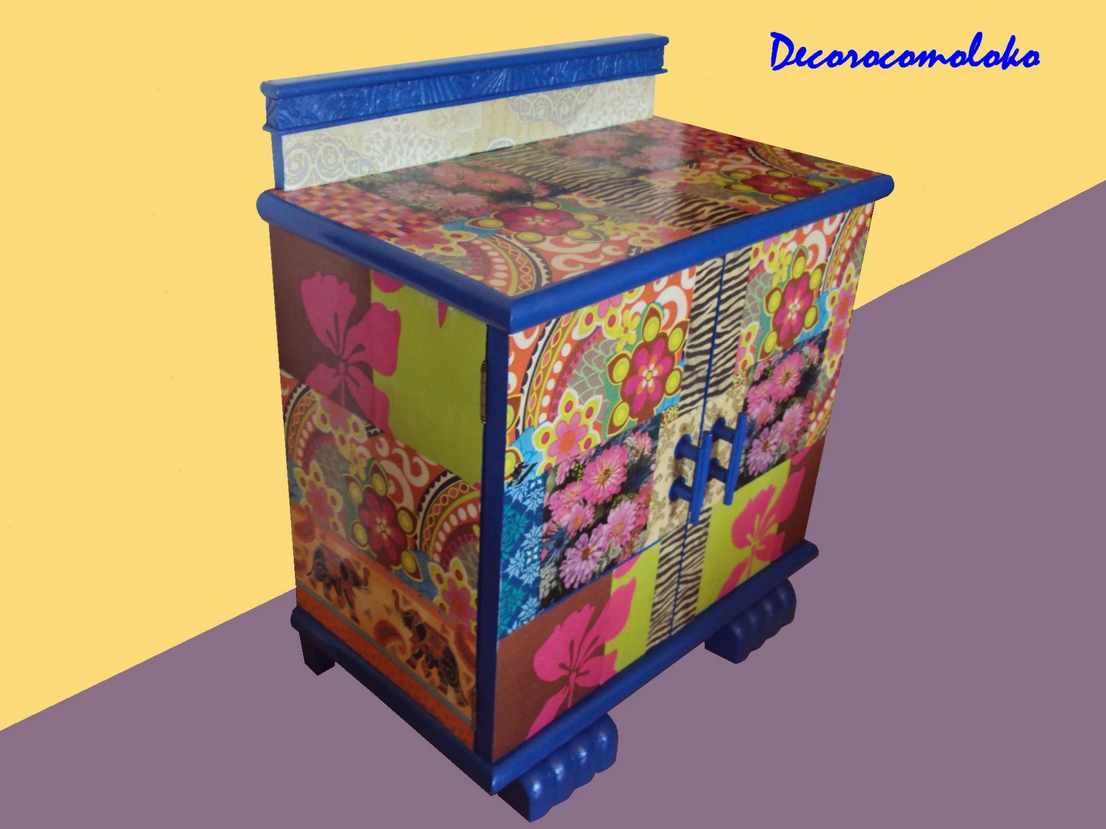 Decoupage Mueble Decorocomoloko Decorar Un Mueble Con Decoupage