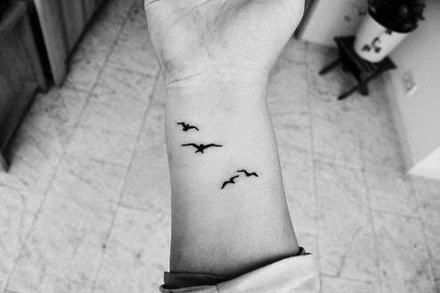 birds wrist tattoo ideas