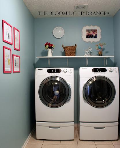 laundry room blue