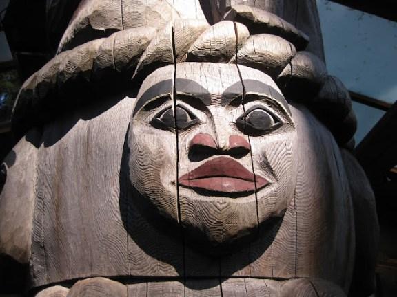 Totem pole in Capilano Suspension Bridge Park, Vancouver