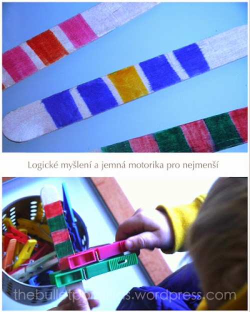 Logická řada znaků a jemná motorika pro děti