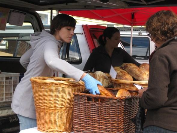 Lyttelton market bread stand
