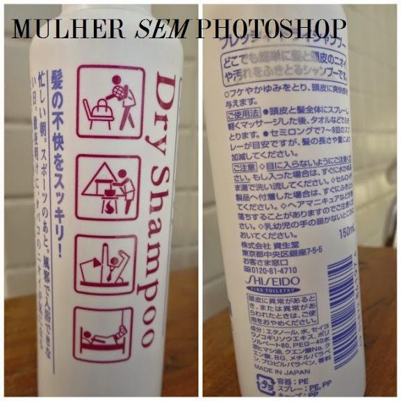 resenha Shampoo Seco Dry Shampoo Shiseido