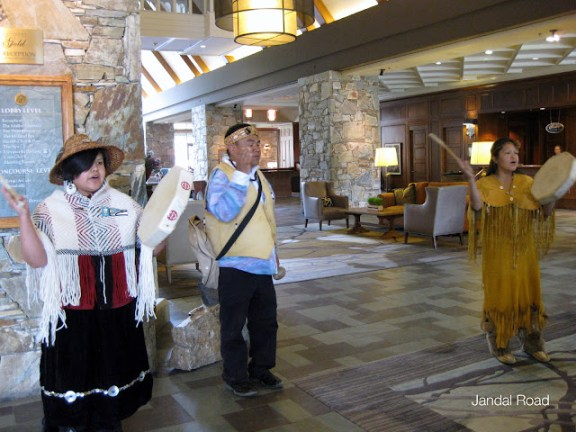 Welcome in the lobby of the Fairmont Chateau Whistler