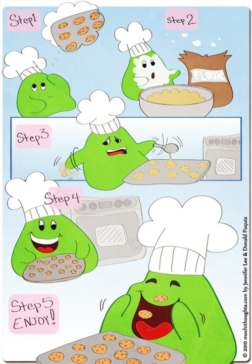 Mochi's Steps to Baking Cookies
