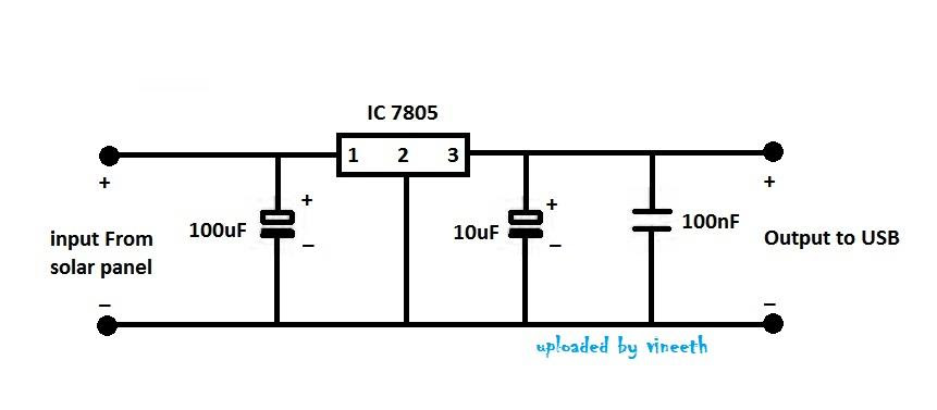 solar cell voltage regulator circuit diagram