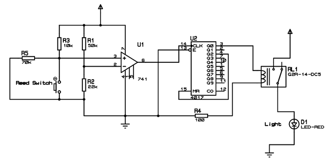 reed switch plc wiring