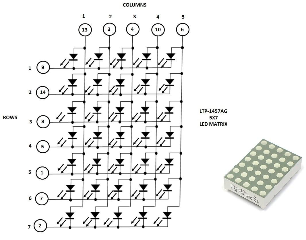 led matrix wiring diagram