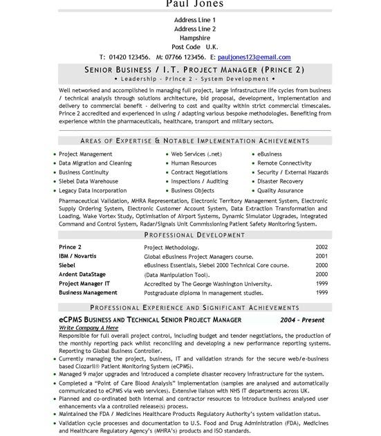 directgov cv template