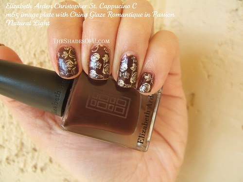 Konad Nail Stamp Art Golds And Browns Using Elizabeth