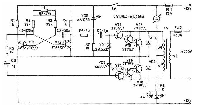 1000 w inverter circuit diagram