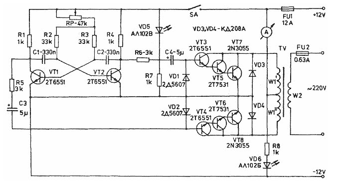1000w inverter circuit diagram with pcb layout