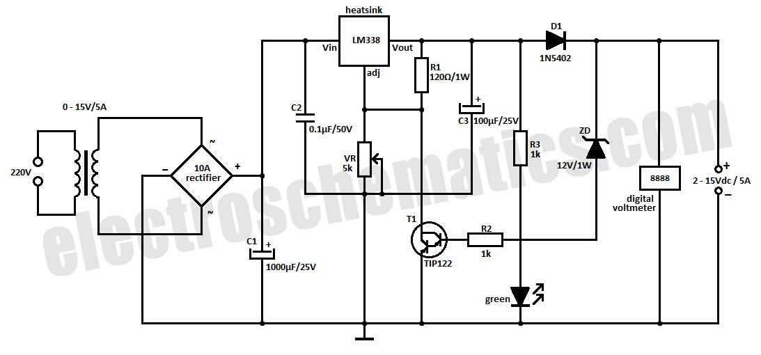 12v 6v battery charger with auto cut off circuit diagram