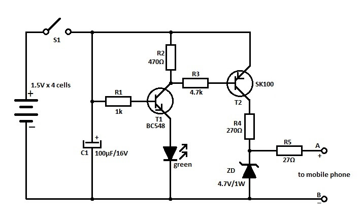 circuit diagram of nokia mobile charger