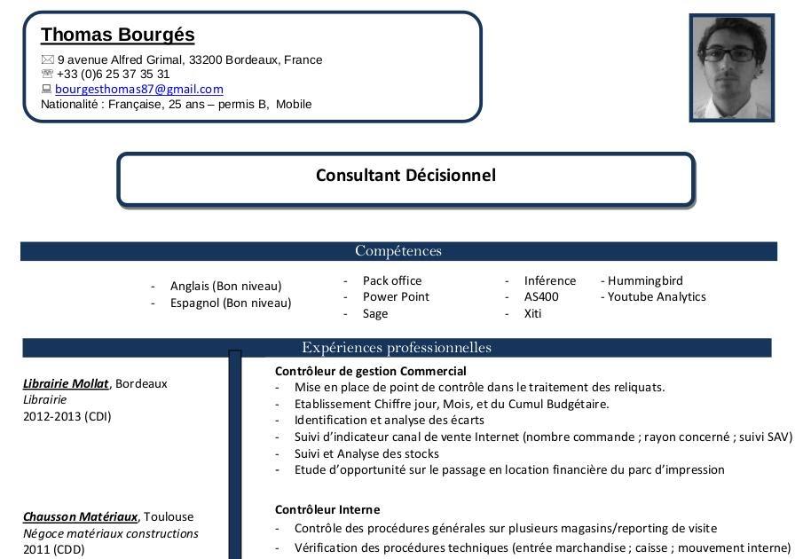 exemple de cv consultants