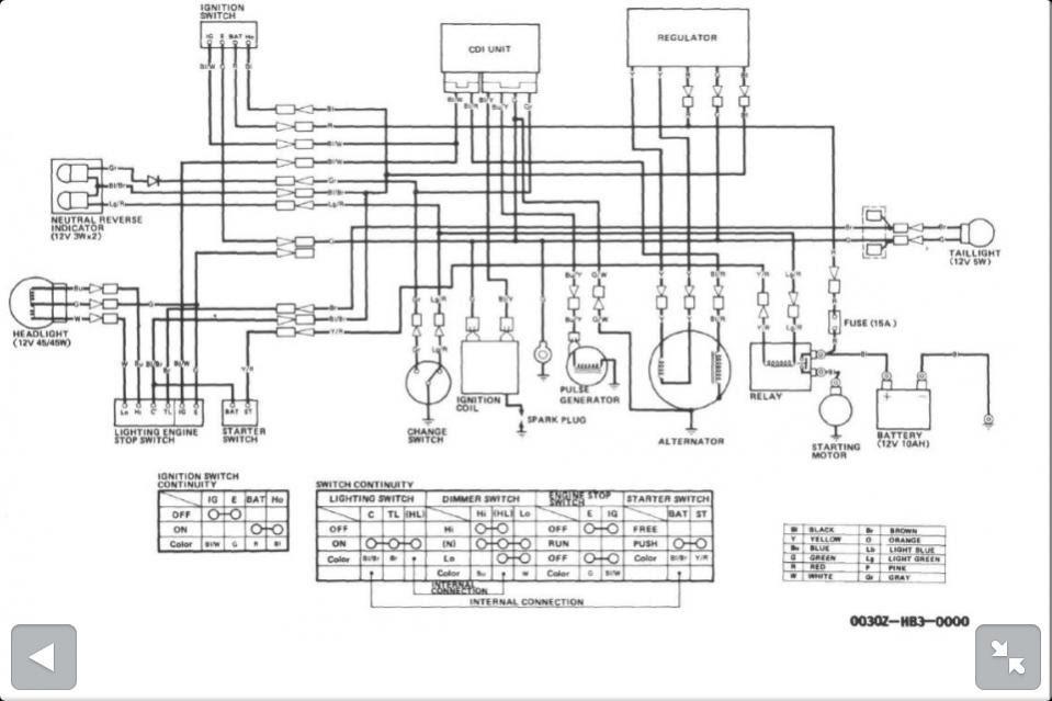 1979 honda xl 250 wiring diagram