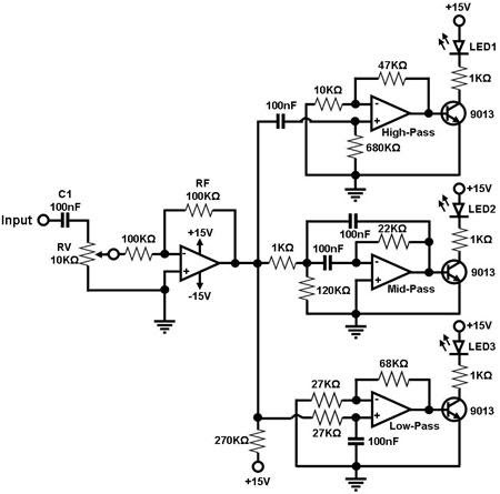 8 led chaser circuit diagram