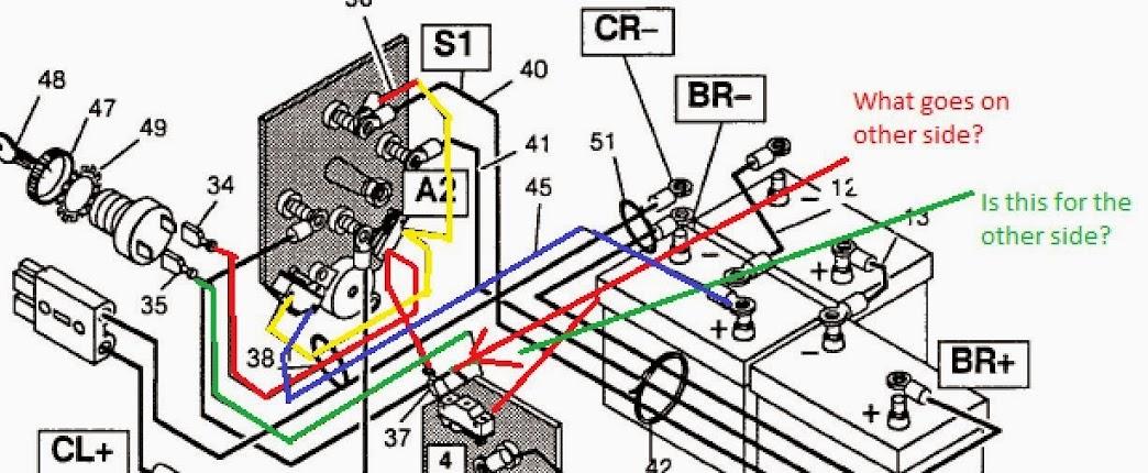 1989 ezgo golf cart battery wiring diagram