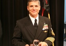 Chief Michael Rodrigues wins Teacher of the Year award and standing ovation from NJROTC