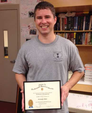 The National Institute of Standards and Technology awards Hahn with the Sigma Xi Outstanding Teacher award
