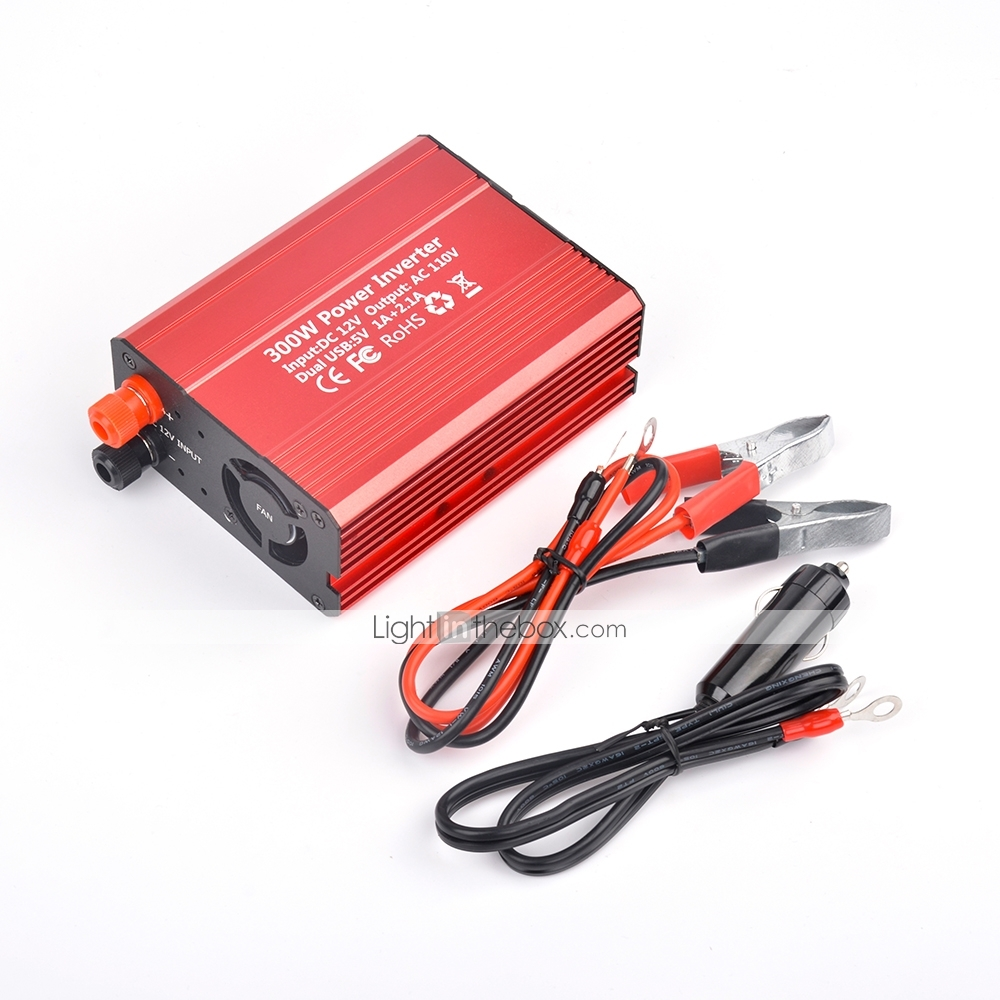 Ac Converter 300w Power Inverter Dc 12v To 110v Ac Converter With 3 1a Dual Usb