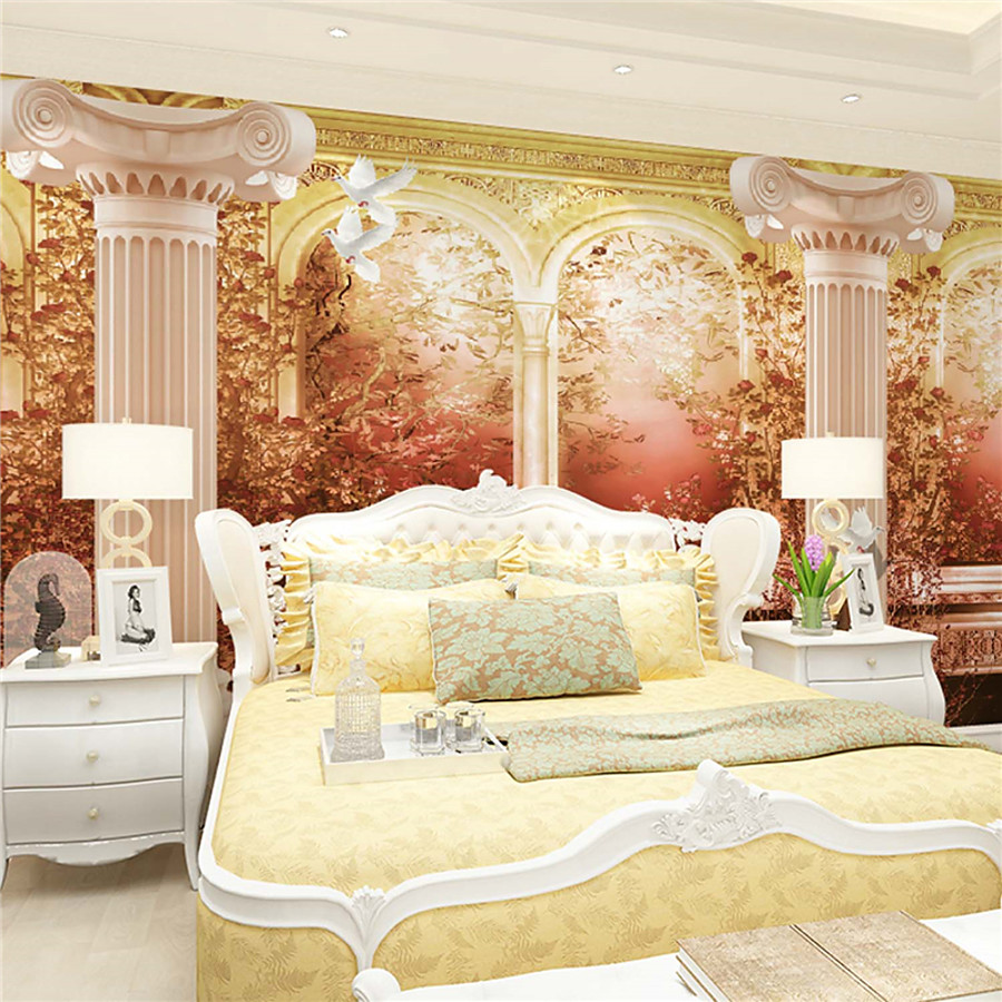 Decoration 3d Murale 67 99 Art Deco 3d Home Decoration Retro Wall Covering Canvas Material Adhesive Required Mural Room Wallcovering