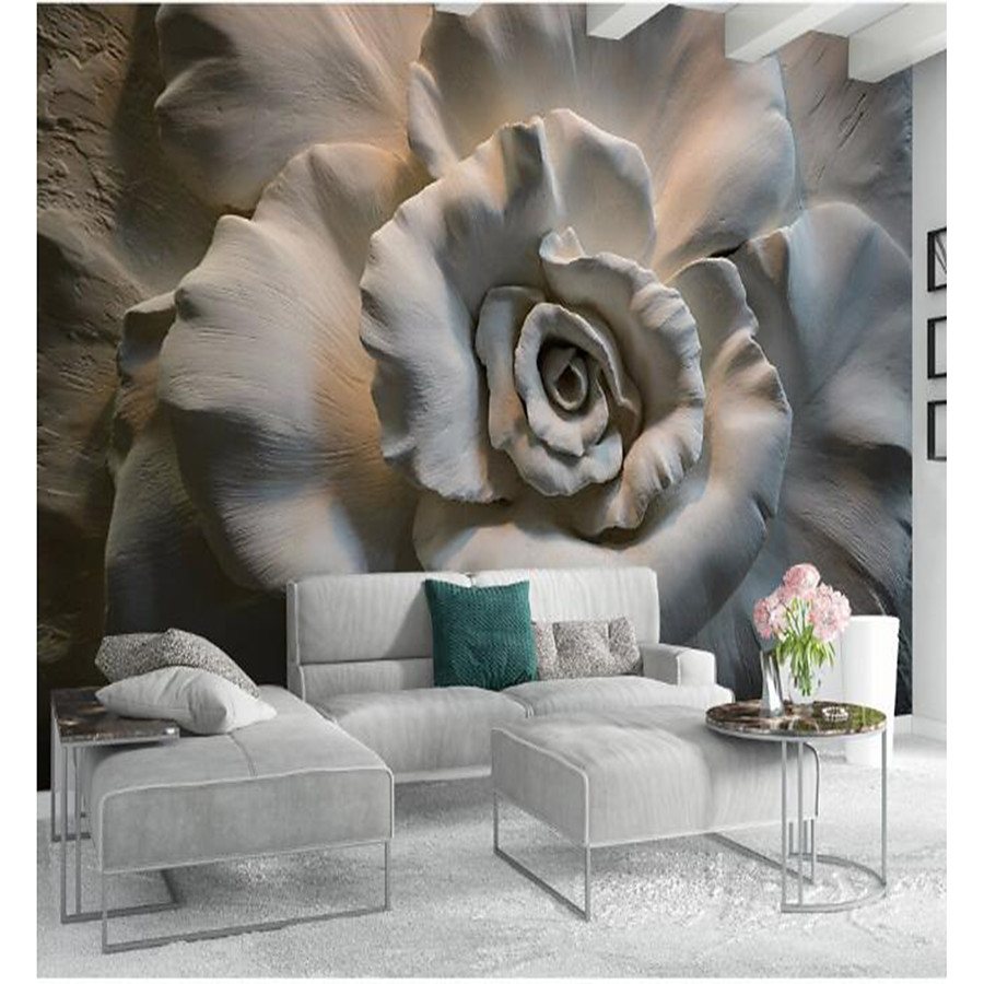 Decoration 3d Murale 140 99 Floral Art Deco 3d Home Decoration Classic Modern Wall Covering Canvas Material Adhesive Required Mural Room Wallcovering