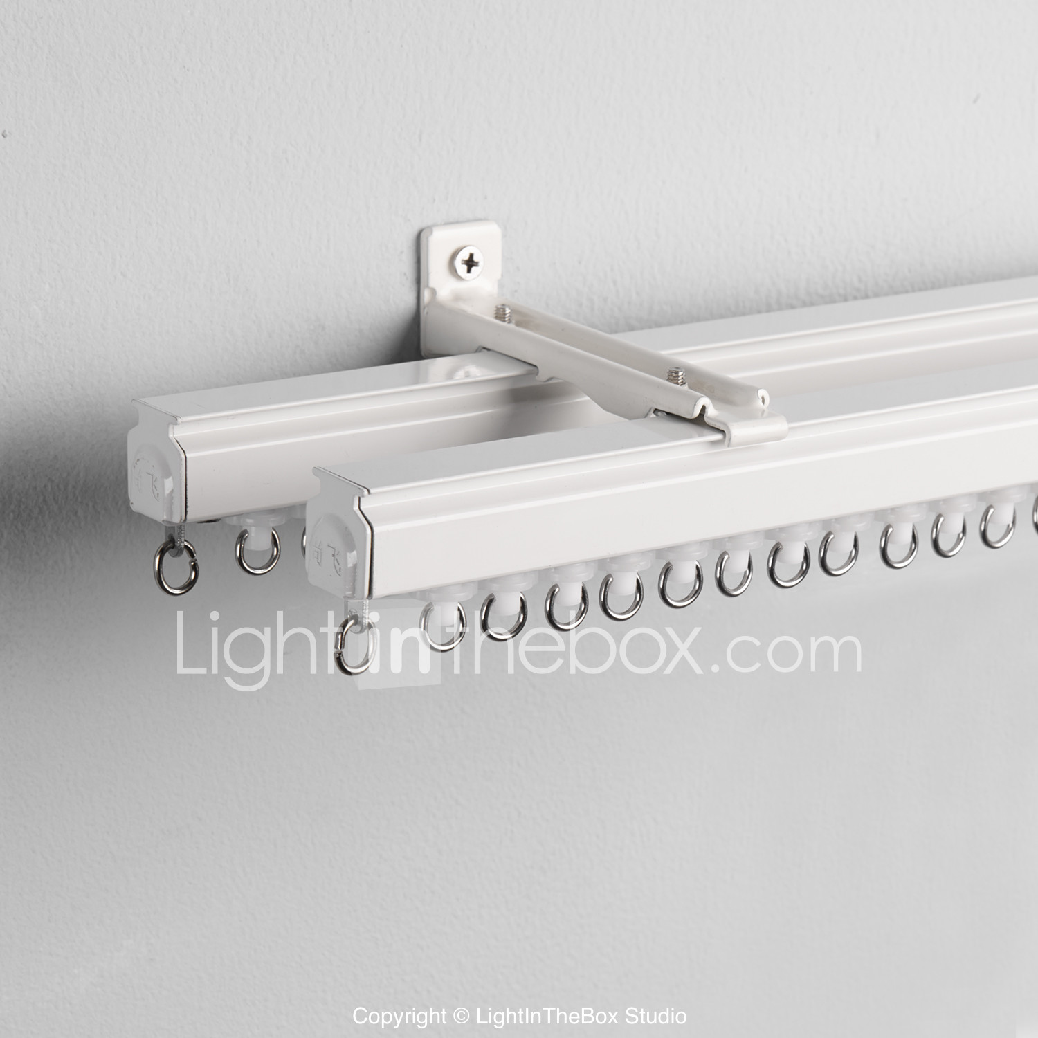 Wall Mount Curtain Track Dola Double Track For Sheer And Curtain Wall Mounted 2200907 2019