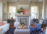 Lia Griffith | Coral Living Room Update for Summer