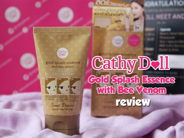 Cathy Doll Gold Splash Essence with Bee Venom
