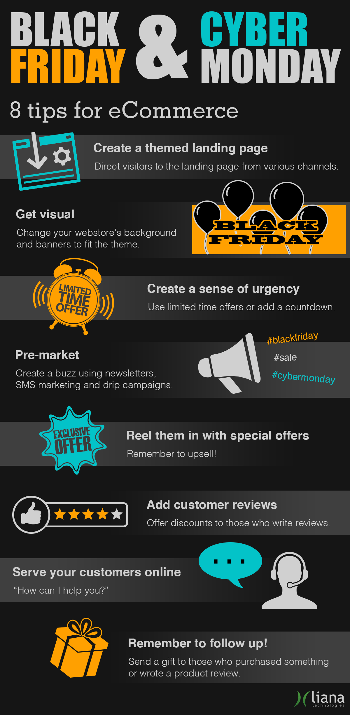 Www Black Friday Black Friday And Cyber Monday Tips For Ecommerce Infographic