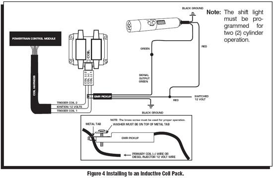 msd shift light wiring diagram