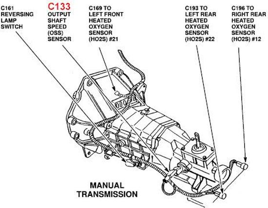 94 ford ranger transmission diagram