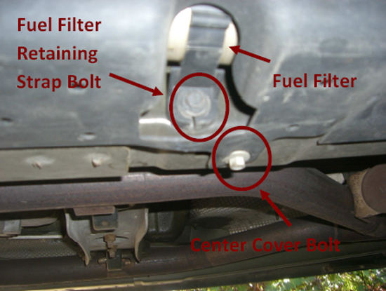02 mustang fuel filter location