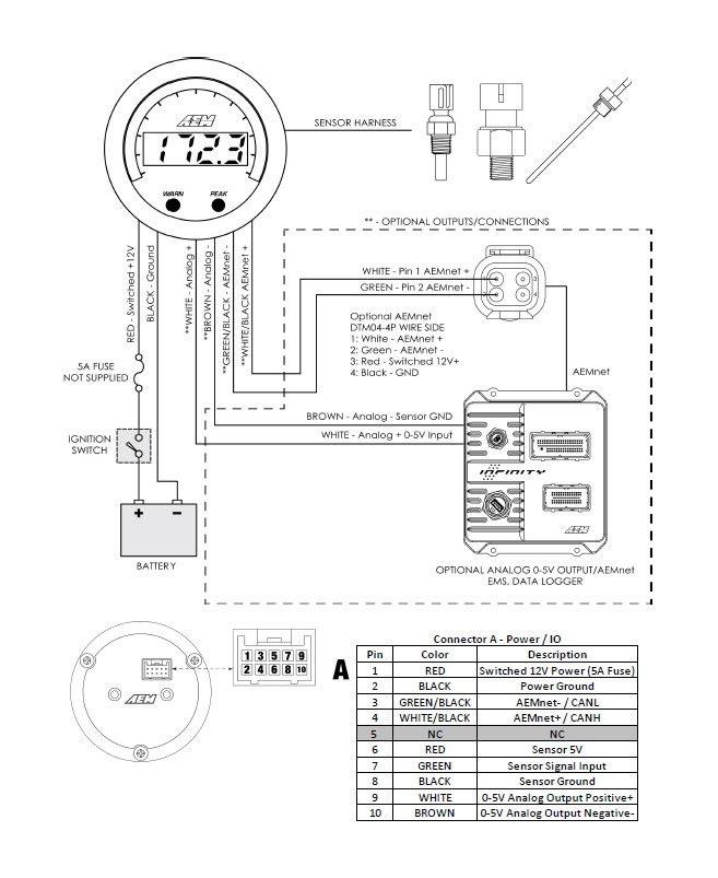 calibre boost gauge wiring diagram