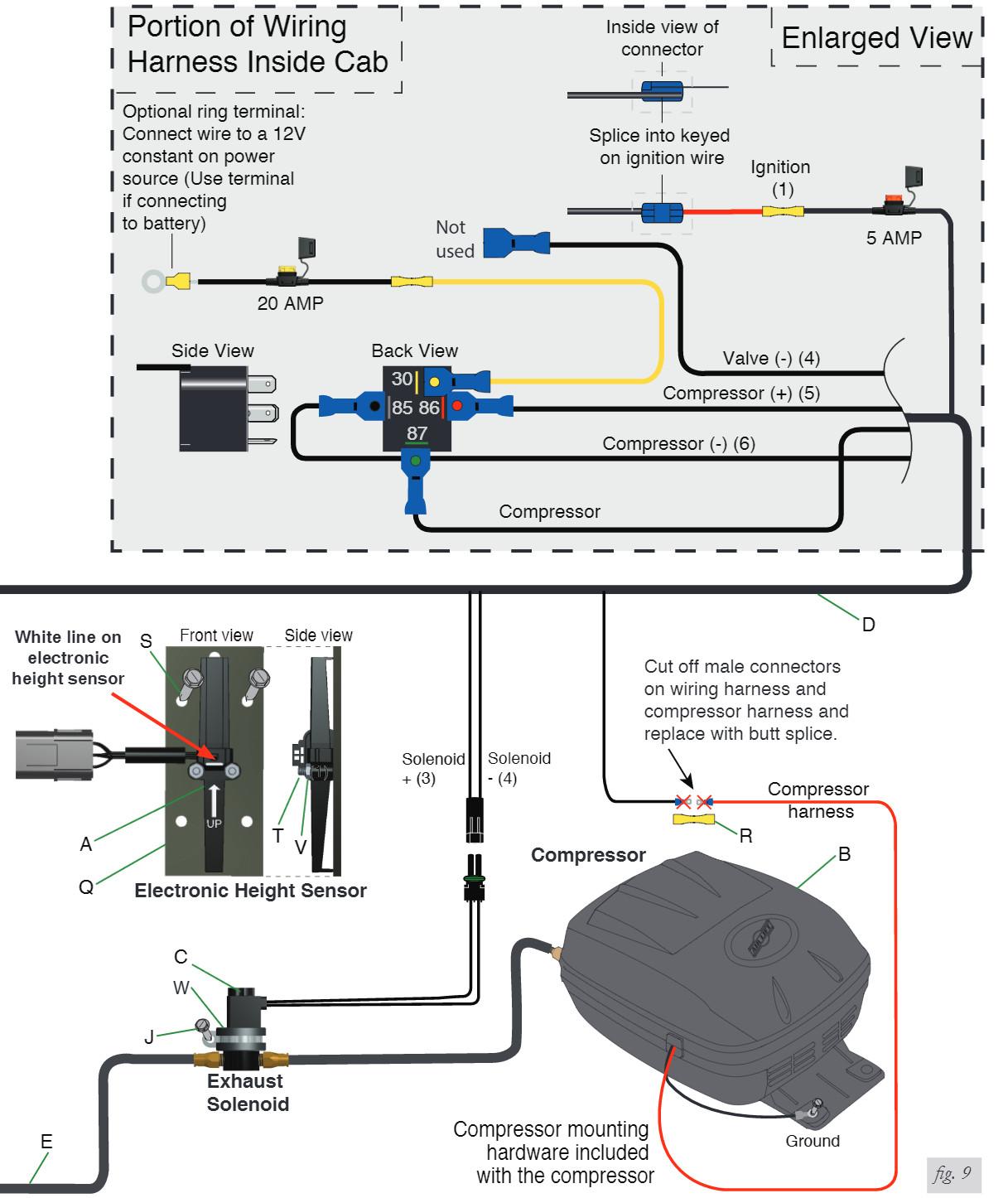 Ridetech Air Valve Wiring Diagram Diagrams Schematic Water Pump Bag Compressor