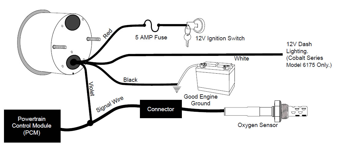 air to fuel gauge wiring diagram