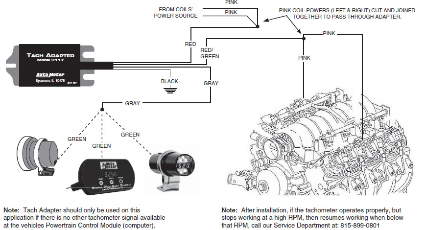 wiring a tachometer to the coil