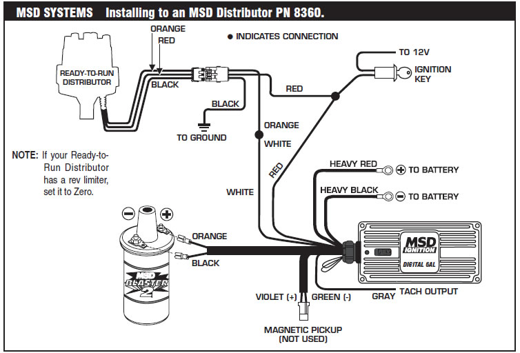 Msd Hei Distributor Wiring Diagram Electronic Schematics collections