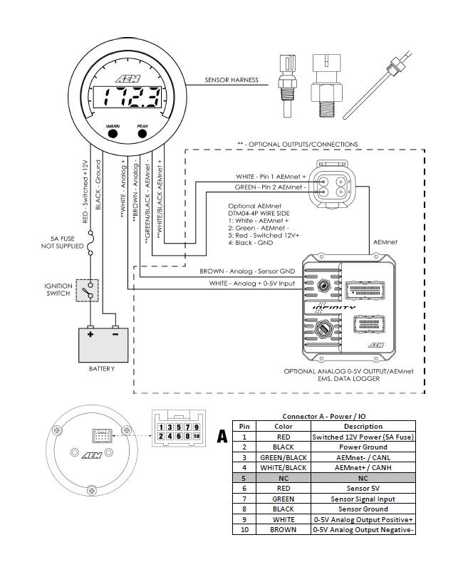auto gauge digital boost gauge wiring diagram