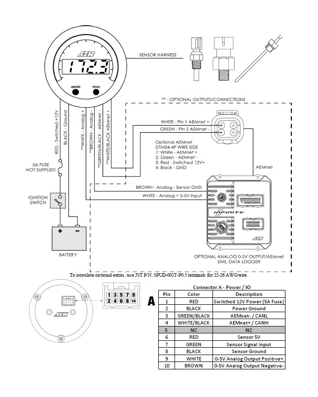 defi oil pressure gauge wiring diagram