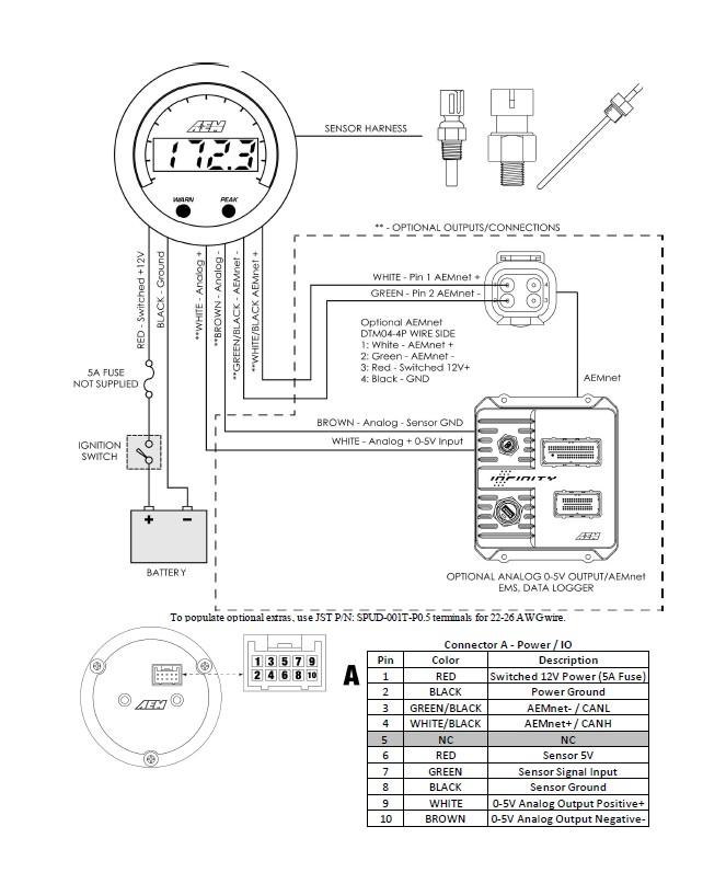 aem oil pressure gauge wiring diagram