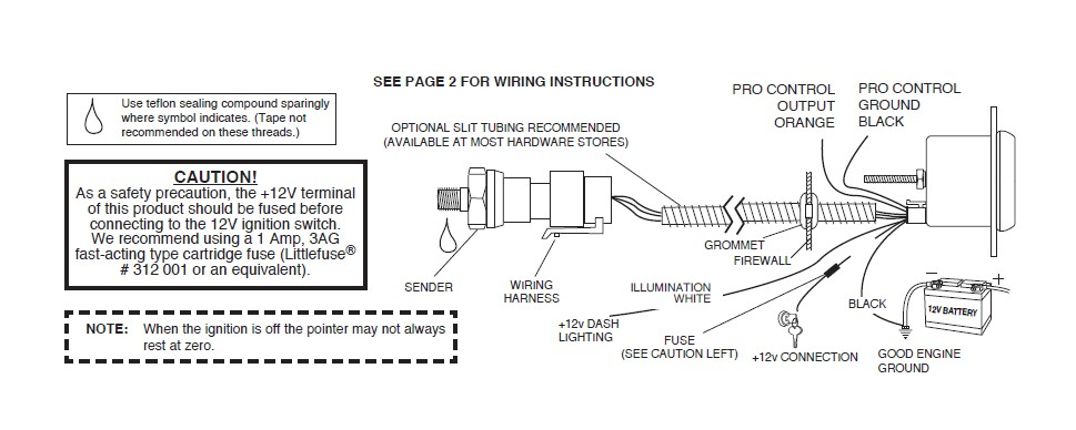 Sunpro Fuel Gauge Wiring Diagram Wiring Schematic Diagram