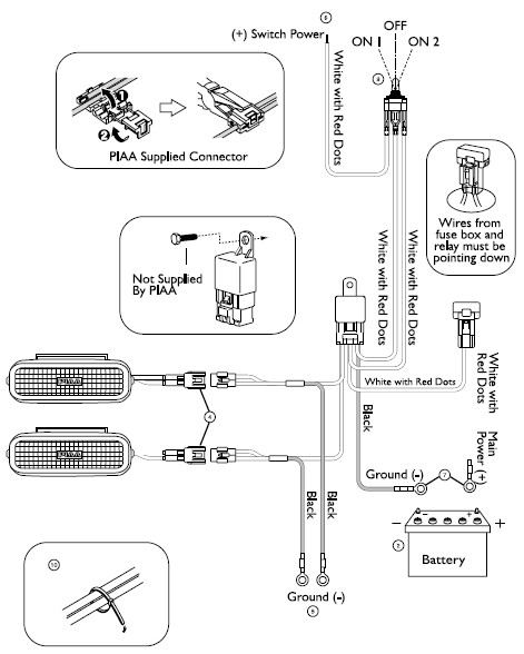 halogen light wiring diagram for arrow stick