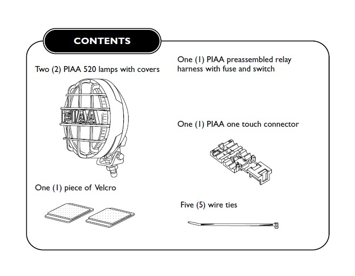 How to Install PIAA 520 Series 6 in Round Chrome SMR Halogen Lights