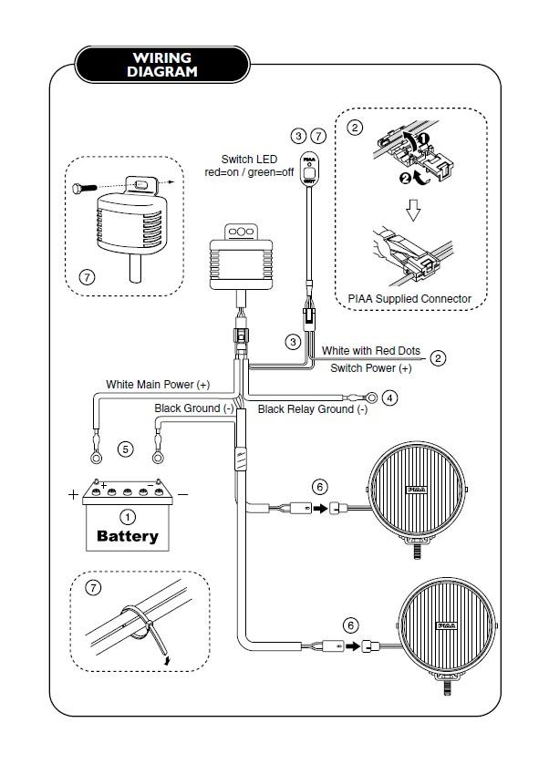 Piaa Fog Light Wiring Diagram - Wiring Diagrams