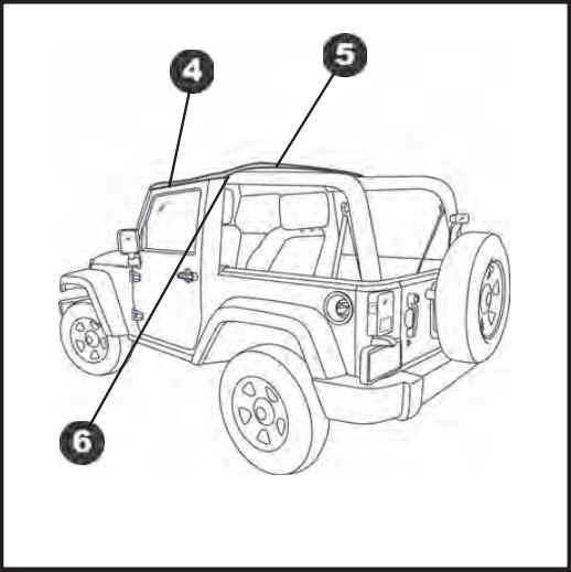 install jeep soft top 2 door