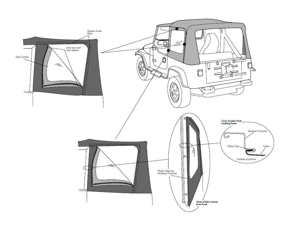 install jeep yj windshield