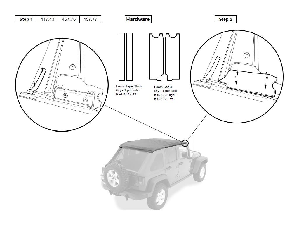 install jeep sunrider soft top